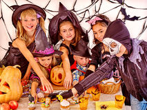 Halloween party with children Stock Photography