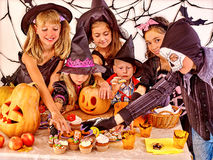 Halloween party with children Royalty Free Stock Image