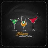 Halloween party cocktails menu design background Royalty Free Stock Photography