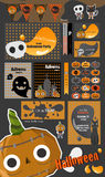 Halloween party collection.vector Halloween labels, icons, elements, greeting card. Royalty Free Stock Image
