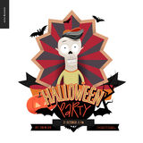 Halloween Party composed sign Royalty Free Stock Photography