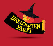 Halloween Party Concept Design Royalty Free Stock Photography