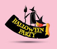 Halloween Party Concept Design Stock Images