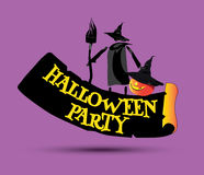 Halloween Party Concept Design Stock Image