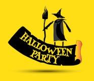 Halloween Party Concept Design Stock Photos