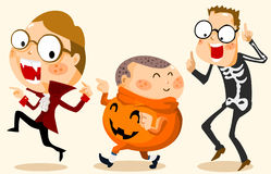Halloween Party with Costume Stock Images