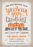 Halloween party and costume contest Invitation Royalty Free Stock Photo