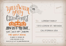 Halloween Party and Costume Contest Invitation Template. Stock Image