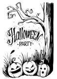 Halloween party cover. Sketch vector illustration Stock Photos