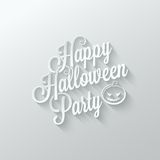 Halloween party cut paper lettering background Royalty Free Stock Photo