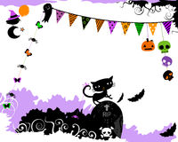Halloween party design Royalty Free Stock Image