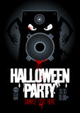 Halloween party design template. Royalty Free Stock Images