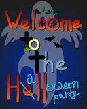 Halloween party design template. Color halloween party design template Royalty Free Stock Images