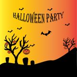 halloween party design template stock illustration
