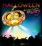 Halloween Party Design Template Illustration. Halloween greeting design background template Royalty Free Stock Photo