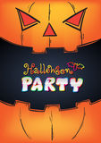 Halloween Party Design template Royalty Free Stock Photography