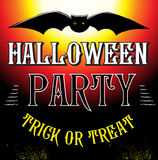 Halloween Party Design template poster Stock Images