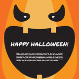 Halloween party design template with pumpkin face Stock Image
