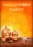Halloween Party Design template, with pumpkin Royalty Free Stock Photography