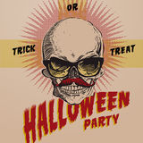 Halloween Party design template Stock Photography