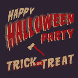 Halloween Party design template Royalty Free Stock Images