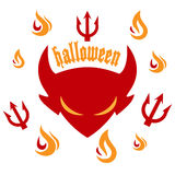 Halloween party - devil Royalty Free Stock Photos