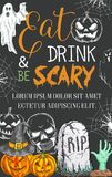 Halloween party vector sketch spooky ghost poster Royalty Free Stock Photography