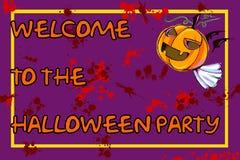 Halloween-Party-Einladung Stockfotos