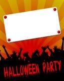 Halloween-Party-Einladung lizenzfreie abbildung