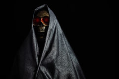 Halloween party or festival with angel of death, Nightlife with ghost or angel of death and picture concept by dark picture style Stock Images