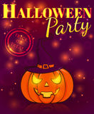 Halloween party. Festive poster. Vector illustration. Stock Photography