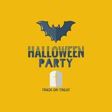 Halloween party flat design background Royalty Free Stock Image