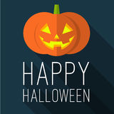 Halloween party. Flat design vector mock up. Royalty Free Stock Photography