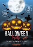 Halloween Party Flyer Design Stock Image