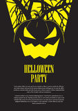 Halloween Party Flyer Stock Images