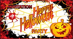 Halloween Party Flyer Invitation. Royalty Free Stock Photo