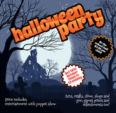 Halloween Party Flyer Leaflet Stock Photography
