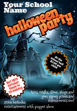 Halloween Party Flyer Poster Stock Photos