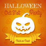 Halloween Party Flyer Template Royalty Free Stock Photos