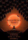 Halloween party flyer Royalty Free Stock Images