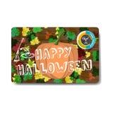 Halloween party flyer. Vector flat cartoon illustration Stock Images