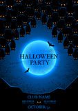 Halloween party flyer Stock Image