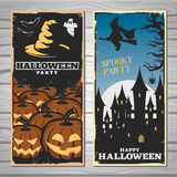 Halloween Party Flyers Royalty Free Stock Image