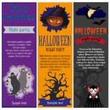 Halloween party flyers set Royalty Free Stock Photography