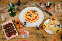 Halloween party food Royalty Free Stock Photos