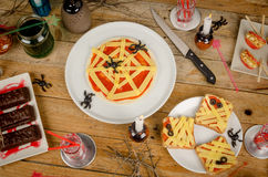Halloween party food Stock Image