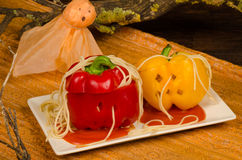 Halloween party food Stock Images