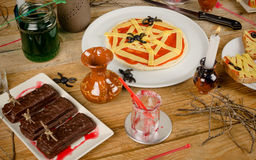 Halloween party food still life Royalty Free Stock Images