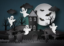 Halloween party with ghost Stock Photography