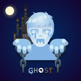 Halloween Party Ghost Role Character Bust Icons Stock Photo